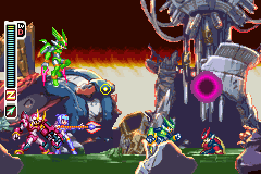 Megaman Zero 3 - Ending  - The Coup De Grace for my fallen opponent - User Screenshot